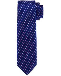 Charvet Polka Dot Silk Tie Navypink