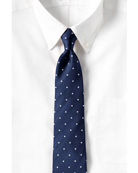 Classic Silk Churchill Dot Necktie Whitexxl