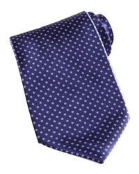 Stefano Ricci Mini Flower Silk Tie Navy