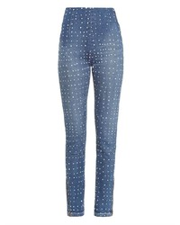 High rise polka dot skinny jeans medium 196871