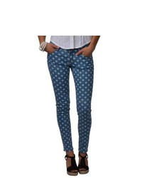 Journee Collection Juniors Polka Dot Print Stretchy Skinny Pants