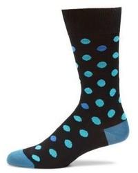 Paul Smith Dot Patterned Woven Socks