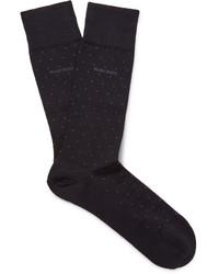 Hugo Boss Frank Polka Dot Mercerised Stretch Cotton Blend Socks