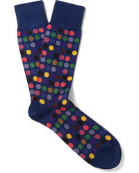 Paul Smith Shoes Accessories Polka Dot Cotton Blend Socks