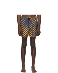 Solid and Striped Navy And Orange Ombre Dot The Classic Swim Shorts
