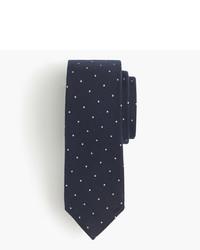 J.Crew English Wool Silk Tie In Polka Dot