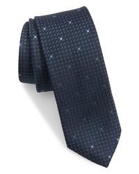 Ted Baker London Micro Grid Skinny Silk Tie