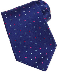 Charvet Neat Polka Dot Silk Tie Navypink