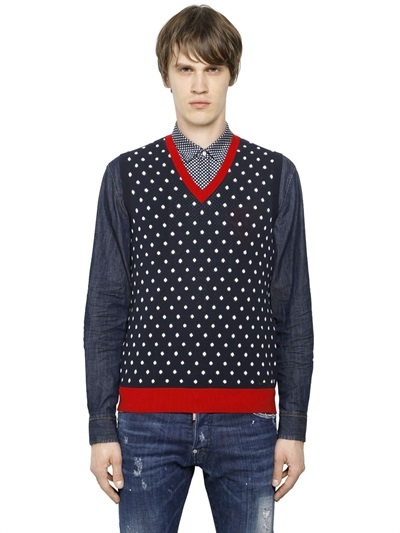 DSQUARED2 Polka Dot Cotton Sweater Vest | Where to buy & how to wear
