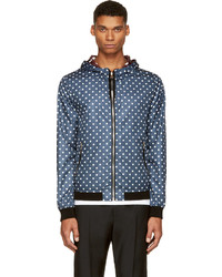 Dolce & Gabbana Navy Polka Dots Reversible Windbreaker