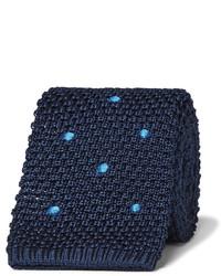 6cm polka dot knitted mulberry silk tie medium 1310252