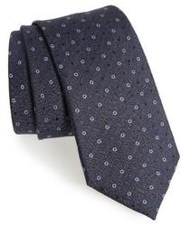 Dotted wool silk tie medium 3772598
