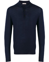 Navy Polo Neck Sweater