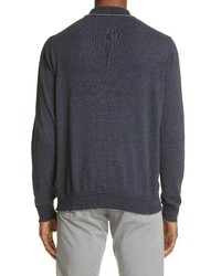 Canali 3b Tipped Polo Sweater