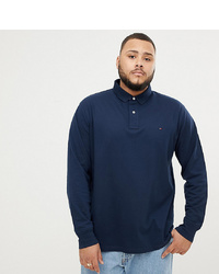 Tommy Hilfiger Big T Sleeve Pique Polo In Navy