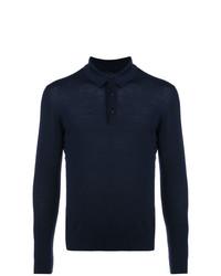 Kiton Knitted Longsleeved Polo Shirt