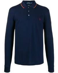 Polo Ralph Lauren Logo Embroidered Long Sleeve Polo Top