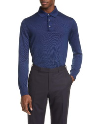 Ermenegildo Zegna Long Sleeve Polo Shirt