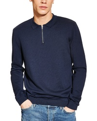 Topman Long Sleeve Polo Sweater