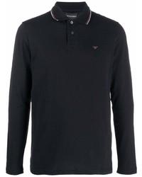 Emporio Armani Longsleeved Logo Print Polo Shirt
