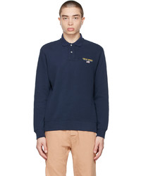 Polo Ralph Lauren Navy Classic Fit Long Sleeve Polo