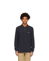 Lacoste Navy L1212 Long Sleeve Polo
