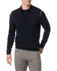 Rodd & Gunn Revill Reserve Merino Wool Zip Polo