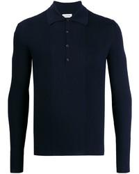 Lanvin Ribbed Panel Polo Shirt
