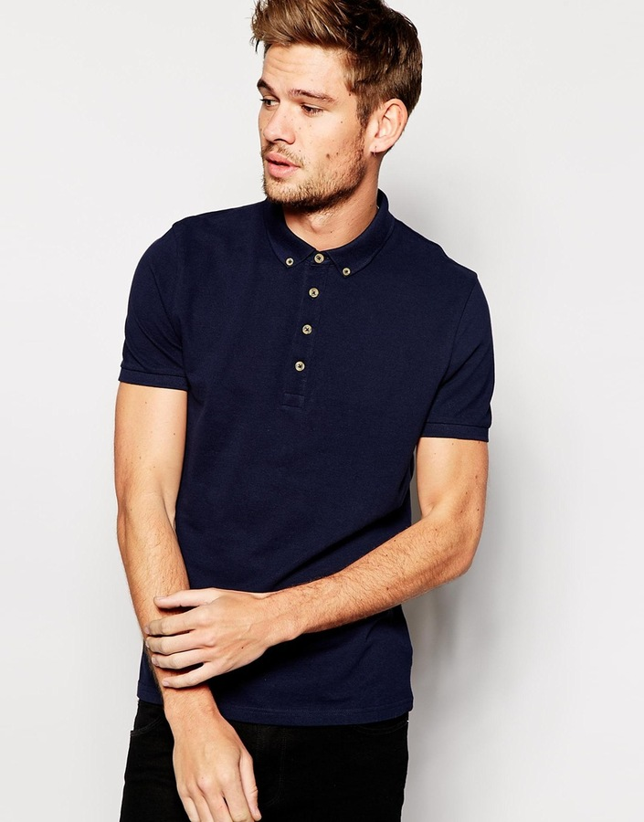 How to wear a polo shirt kamos t shirt for Button down collar golf shirt