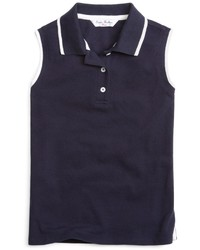 Brooks Brothers Sleeveless Tipped Polo
