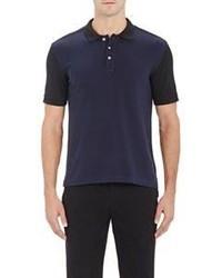 ATM Anthony Thomas Melillo Colorblocked Polo Shirt Blue