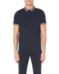 Hugo Boss Contrast Collar Cotton Jersey Polo Shirt