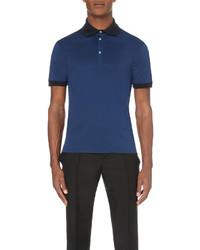Alexander McQueen Contrast Cotton Jersey Polo Shirt