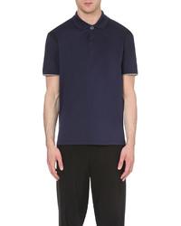 Lanvin Contrasting Cotton Piqu Polo Shirt