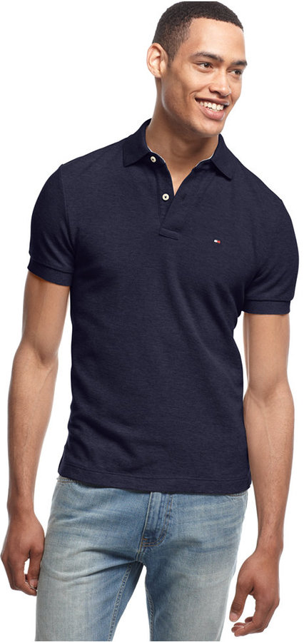 701dda1c Tommy Hilfiger Custom Fit Ivy Polo, $29 | Macy's | Lookastic.com