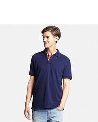 Uniqlo Dry Pique Color Placket Polo Shirt