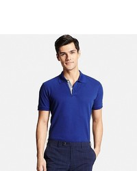 Uniqlo Dry Pique Patterned Placket Polo Shirt