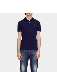 Gucci Stretch Cotton Piquet Polo With Patch Detail