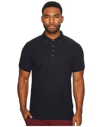 Scotch & Soda Home Alone Longer Length Chic Polo With Subtle Woven Details Clothing