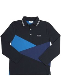 HUGO BOSS Cotton Jersey Patchwork Polo Shirt