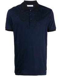 Versace Collection Jacquard Neck Polo Shirt