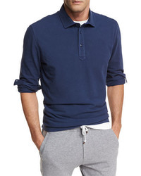 Brunello Cucinelli Long Sleeve Cotton Polo Shirt