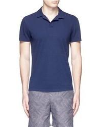 Orlebar Brown Massey Airtex Knit Polo Shirt