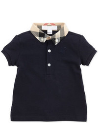 Burberry Mini Pique Polo Shirt Navy