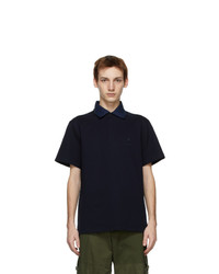 Lanvin Navy Logo Short Sleeve Polo