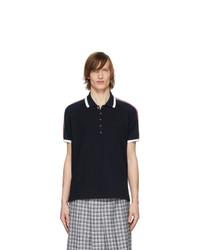 Thom Browne Navy Raglan Sleeve Polo