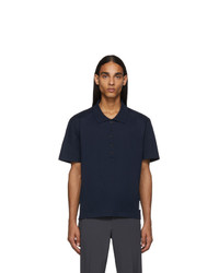 Thom Browne Navy Relaxed Fit Polo