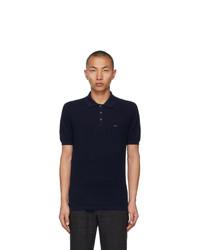 Ermenegildo Zegna Couture Navy Short Sleeve Polo