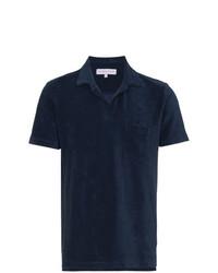 Orlebar Brown Navy Terry Polo Shirt