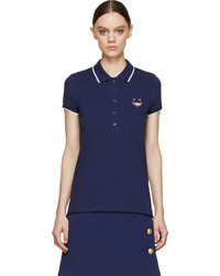 Kenzo Navy Tiger Logo Cotton Piqu Polo